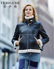 HJF-D6068 VERI GUDE 2015 winter the new plush coat fashion leisure warm faux suede jacket
