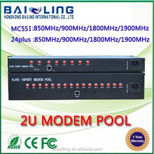 2015 Bailing 2U 16 sim card multi-port modem pool RJ45 ethernet gsm modem