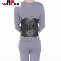 Factory wholesale pain relief leather back support belt with double pull