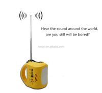Solar Lamp With Mobile Charger Radio FM Rechargeable Lantern Light
