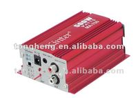motorcycle amplifier mini car amplifier with usb fm red color