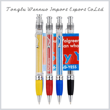 2015 New Arrivals simple design plastic banner pen