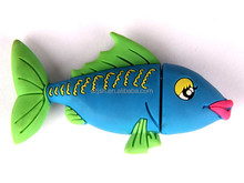 beautiful pvc fish usb memory,colorful fish shape 4gb usb gift