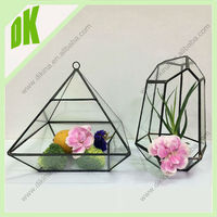 DK//Store your jewelry or add tiny figurines.// long neck Geometric 100cm tall glass vase