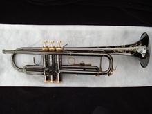 Bb black nickel trumpet musical instruments