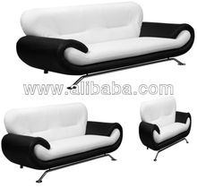 NENA black/white 3 seater 2 seater and 1 chair