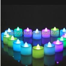 Multicolor Light LED Candle Light Smokeless Flameless Electronic Flash Wedding Velas Home Decoration