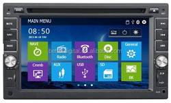 Car radio with GPS DVD USB SD FM AM RDS Bluetooth CE and ROHS certificates