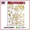 Fashion Removable Paper 3d Glitter Christmas Sticker