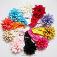 2015 new style top baby headband, crochet flower baby headband, girls crochet headbands