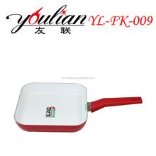 Aluminum Ceramic Square plate /Silicone handle
