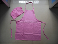 Wholesale Personalized Pink Childrens Aprons Cooking Hats For Kids Custom