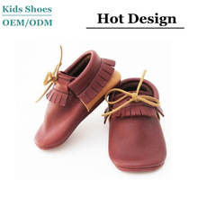 J-B0228 Fashion new style baby newborn baby moccasins leather boy girls happy baby shoes