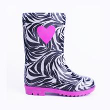 Cute lovely girls' heart buckle rubber rain boots