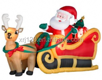 hot selling Christmas inflatables,Santa airplane for Christmas decoration