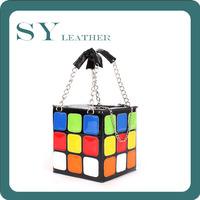 Cute Magic Cube Quality PU Leather Fashion Star Women Handbag
