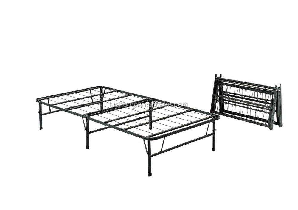 pragma를 침대 간단한 기본 쿼드- 접이식 침대 프레임 트윈-금속 ...