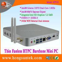 Thin Client Barebone PC System with Intel Celeron 1037U Dual Core 1.80Ghz CPU Fanless Mini PC, 2USB2.0, 4USB3.0, 300M WiFi, VGA
