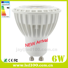 2016 Latest design plastic al dimmable 6w led gu10 cob spot light