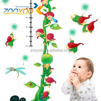 zooyooPVC CCD007Removable wallpaper interior decoration sticker growth chart sticker home decor