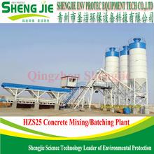 hot sale HZS25 hopper lift concrete mixing batch plant
