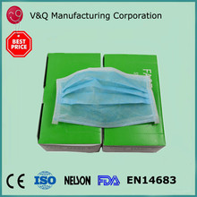 Non woven disposable 3 ply earloop ventilated Japanese dentist mask