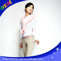 custom ladies corporate uniform blouse design manufacturer in china