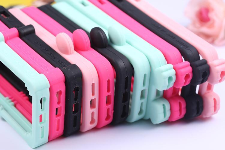 Cartoon Design Silicone Bumper Case For Iphone 5