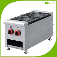 2 Burners Commercial Kitchen Cooking Range, Gas Cooker Range
