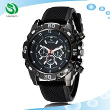 Factory direct three silicone band men's business watch