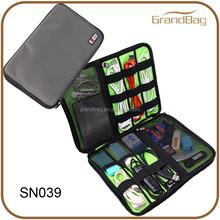 Nylon cable organizer case digital bag charger power mp3 headphones usb organiser bag