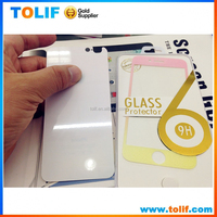 Manufacturer price wholesale! Full Covered Tempered Glass for apple iPhone 5 5s glitter Color Tempered Glass Screen Protector