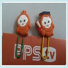 Wholesale animal 3D soft pvc Funny bookmark