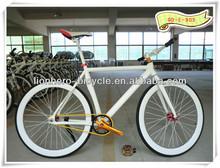 blanco 700c artes fijos en bicicleta de una sola velocidad