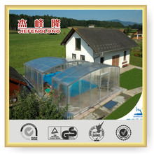 simply installed lexan swimming pool cover and enclosures polycarbonate hollow sheet