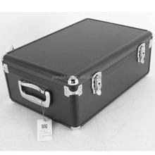 aluminium case big suitcase in black