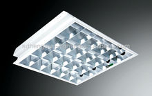 LED tube grid light fixture