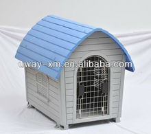 Small size collapsible plastic pet house for dogs with wire door