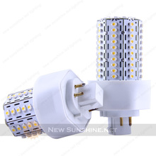 CE RoHS 2pin 4 pin GX24 E27 base 600lm RA80 360 degree 6W PL LED lamps
