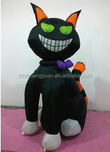 Promotional Lighted black cat inflatables /Inflatable cat for holiday celebration
