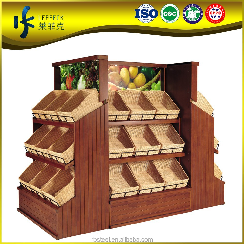 obst rack anzeige regal holz gem se und obst regal mit. Black Bedroom Furniture Sets. Home Design Ideas