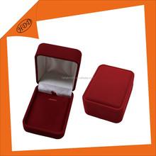 Custom logo printed velvet large size pendants jewelry box