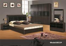 8015# Middle east furniture wood beds hot sale hotel bedroom furniture