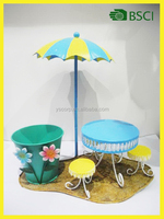 Special item doll ornament flower pot for balcony