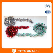 Glitter wired tinsel garland, tinsel curtains party decoration, hanging tinsel wire decoration