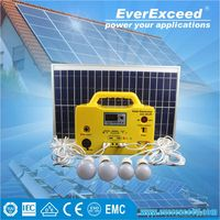 EverExceed 12v Solar Home System , solar energy system for home