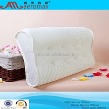 100% polyester mesh fabric magnetic neck wave pillow