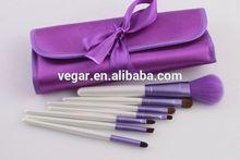 7pcs cosmetics makeup brush set + purple case long handle makeup brush