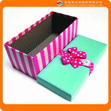pretty green and red rectangle packaging gift paper box in China