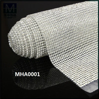 wholesale crystal diamante mesh trimming for wedding dress decoration MHA0001